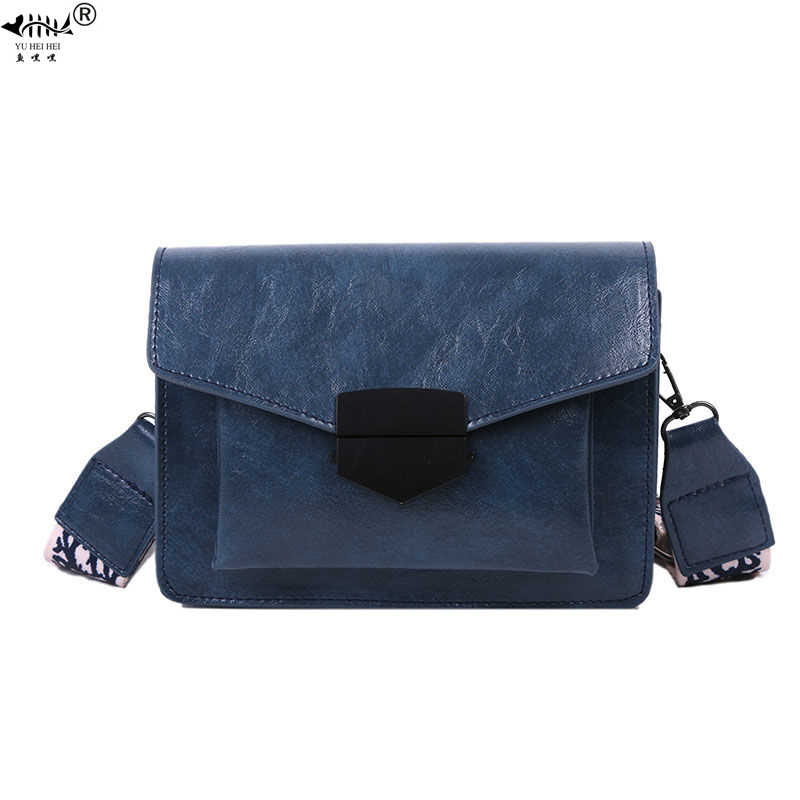 Fashion Vintage Bags for Women Shoulder Crossbody Messenger Bag PU Leather 2020 NEW Bohemian Strap Lock Women's Handbags Purses