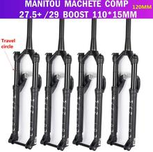 Bike suspension Fork Manitou MACHETE COMP 27.5+ 29er BOOST 110*15MM Mountain MTB Bicycle Fork Oil and Gas Fork remote lock Cone 2016 new mtb bike fork 26 zoom fork bicycle front fork mountain bike suspension fork bicycle parts