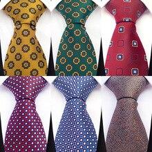 Fashion Men Tie Flower Paisley Geometric Novelty Design Silk Wedding Tie for Men Tie Party Business Gift Accessories