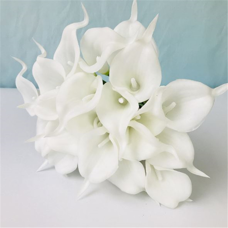 1PC PU Mini Tulips Artificial Flowers For Home And Wedding Decoration Flowers 39