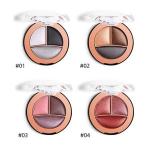 Makeup 3 Colors High Pearl Light Baking Powder Eye Shadow Glitter Eyeshadow Makeup Pallete Matte Eye shadow Shimmer and Shine(China)