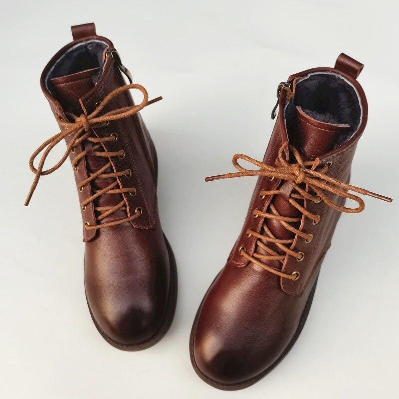 neve 100% couro genuíno botas de tornozelo