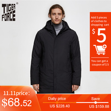 Winter Jacket Parka Tiger-Force Male Overcoat Hooded Thicken Warm Autumn Long Men Men's