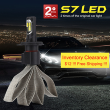 S7 Car Headlight Bulbs LED H4 Car High Low Beam 6000K 12000LM 12V Light Source Car Bulb COB LED Chip 1 Piece Free Shipping артур конан дойл архив шерлока холмса