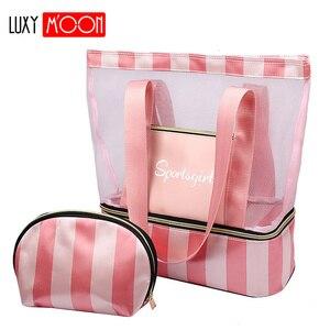 Image 1 - Femme fourre tout sacs à main femmes été plage Sac concepteur voyage bagages sacs à bandoulière humide sec séparation Sac à main Sac a main