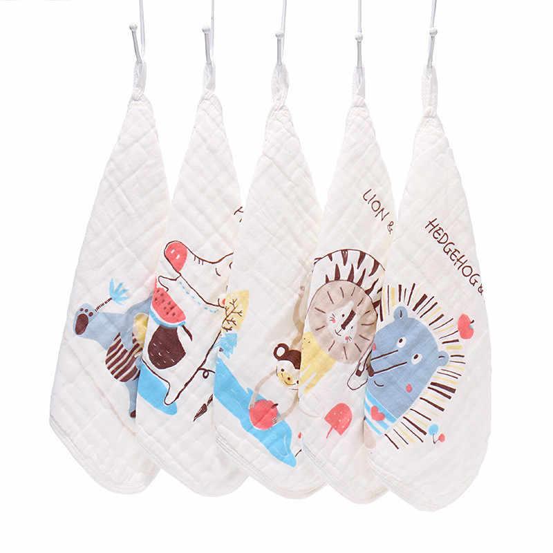 Toalla cuadrada estampada de felpa suave para bebés 5 uds. Toalla de Seersucker Toalla de algodón para bebés con Saliva de bebé toalla de mano guardería para niños 2020
