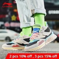 Li Ning Women 001 T1000 WINTER Lifestyle Shoes Wearable LiNing li ning Retro Sport Shoes Dynamic Shell Sneakers AGLP094 YXB330