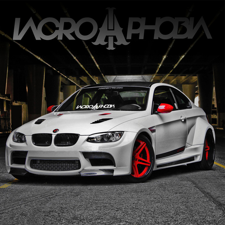 JL 55 Cm *12CM Vinyl Decals  Front And Rear Windshield Personalized Car Stickers IACROPHOBIA