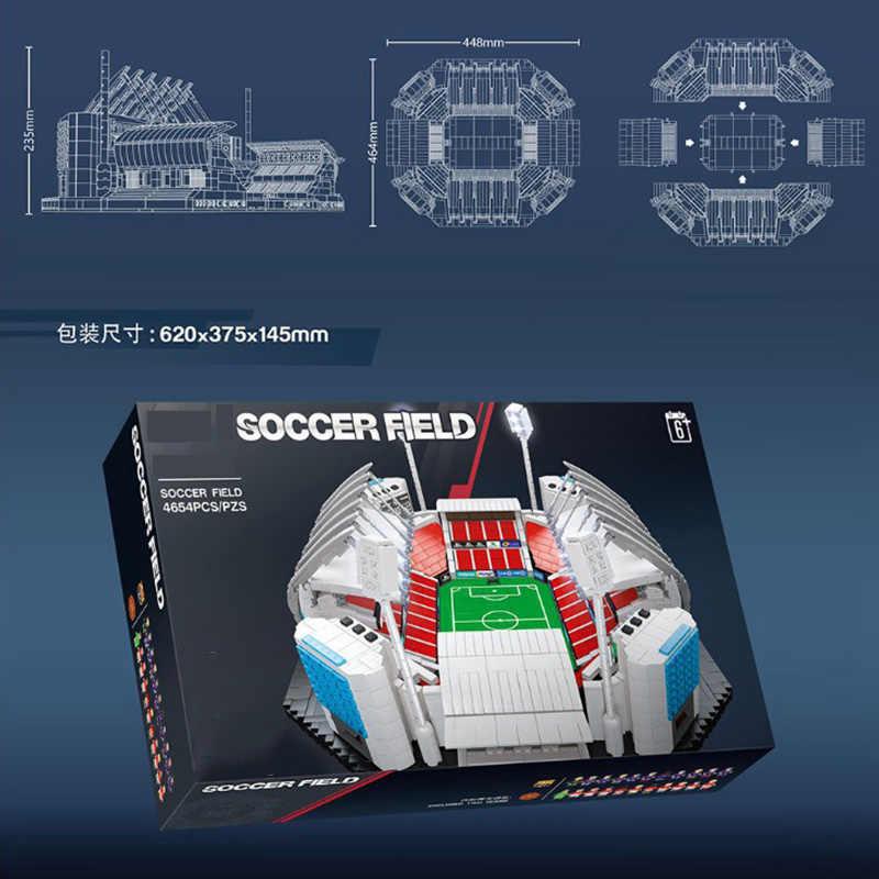 ملعب كرة القدم الموضة الحديثة صالة الألعاب الرياضية ، مكان للألعاب الأولمبية نموذج اللبنات ألعاب تعليمية للأطفال الهدايا