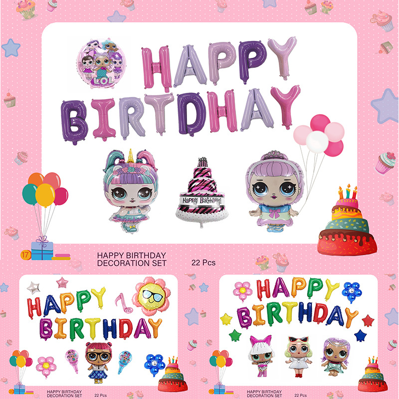 LOL Surprise Dolls Party Themes Balloon Activity Event Decoration Supplies Original Lols Dolls Sets Girl's Celebrate Toys Gifts