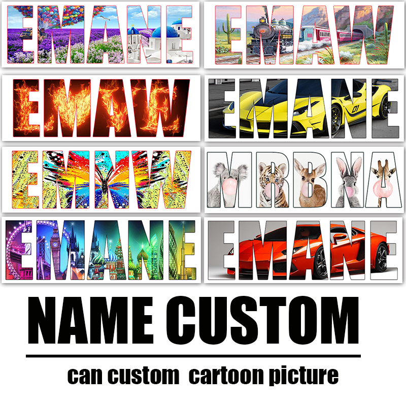 Photo Custom Full Drill 5D DIY Diamond Painting Cartoons Name Cross Stitch Letter Customized Diamond Embroidery Mosaic Gifts