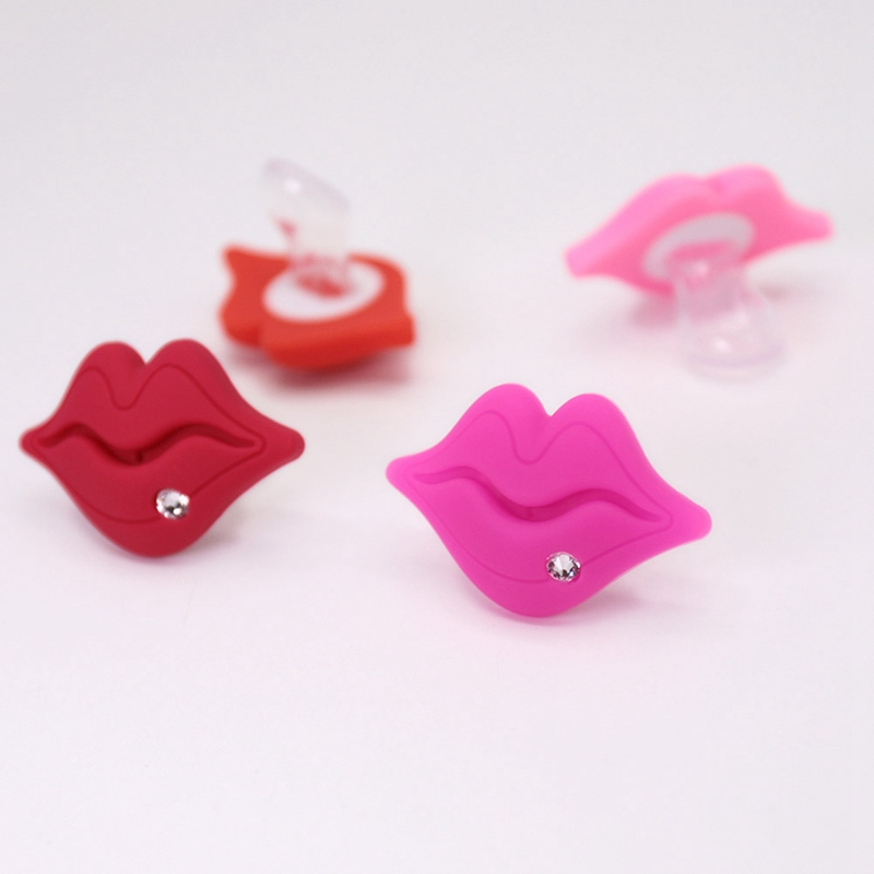 Baby Pacifier Funny Red Kiss Lips Dummy Pacifiers Crystal Silicone Baby Nipples Teether Soothers Pacifier Baby Dental Care