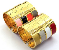 18MM wider version yellow gold hot sale numbers and letters H classic bracelet rainbow H bracelets for man YF009TXK