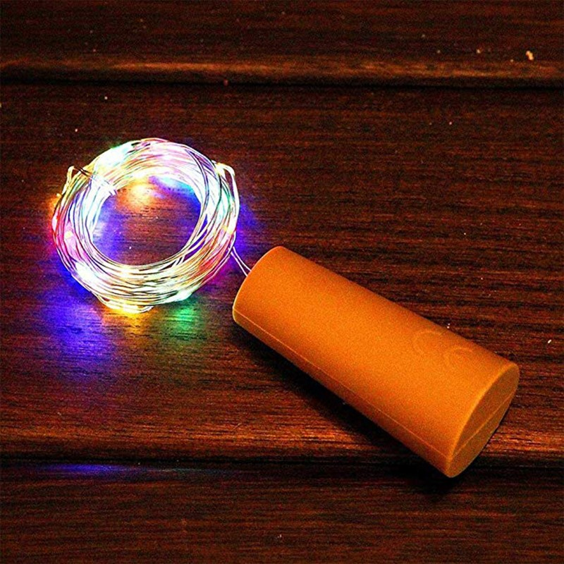 2M 20 LED Fairy String Lamp Cabinet Light Copper Wire Waterproof Indoor Bedroom Bookcase Holiday Christmas Decoration
