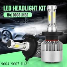 2x LED Chip COB Car Headlight Bulbs 9004 9007 H4 H13 Auto Headlamp Bulbs S2 12W 80W 8000LM 6000K White Headlight Lamp Led light