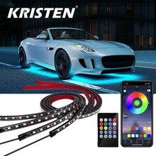 Bande lumineuse RGB sous-marine pour voiture, lumière néon, éclairage d'ambiance décoratif, télécommande/application de contrôle