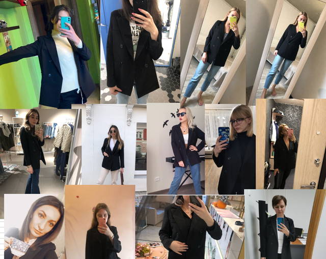 New Autumn Fashion Women's Long Sleeve Double Breasted Student Jacket Loose Casual Black Women Blazers Jackets Work Wear Coat 5