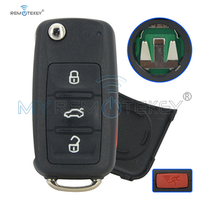Remtekey 5K0 837 202 R Flip remote key 4 button 315mhz 5K0837202R for VW touareg tiguan jetta GTI golf keyless key NBG010180T