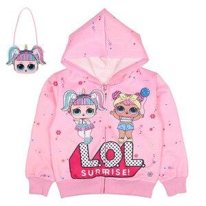 Оригинальные детские комплекты LoL suprise, толстовка, свитер, пальто, детская верхняя одежда с капюшоном lol dolls, детские пальто, куртки, детские п...