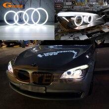 Ultra מואר SMD LED עיני מלאך halo טבעות ערכת יום אור רכב סטיילינג עבור BMW 7 סדרת F01 F02 F03 f04 730d 740d 740i 750i 760i