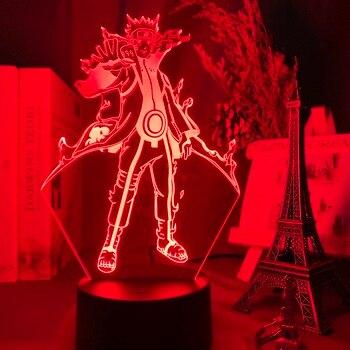 3d Lamp Japanese Anime Naruto Kurama Figure Nightlight Gift for Kids Child Bedroom Decoration Color Changing Led Night Light assassins creed altair figure led night light for kids bedroom home decor color changing baby nightlight for child night lamp 3d