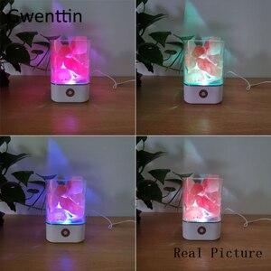 Image 5 - Lâmpada de sal do hálito natural cristal, usb, led, luz noturna, para mesa, lâmpadas de lava para o quarto, lateral da cama, decoração da casa