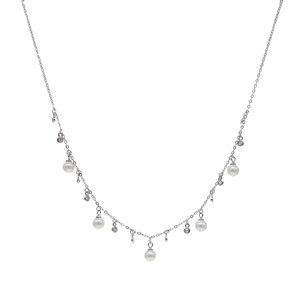 Image 3 - 100% reine 925 Silber Halsketten Anhänger für Frauen Runde Süßwasser Perlen Halskette Feine Büro Schmuck Einfache Design Bijoux