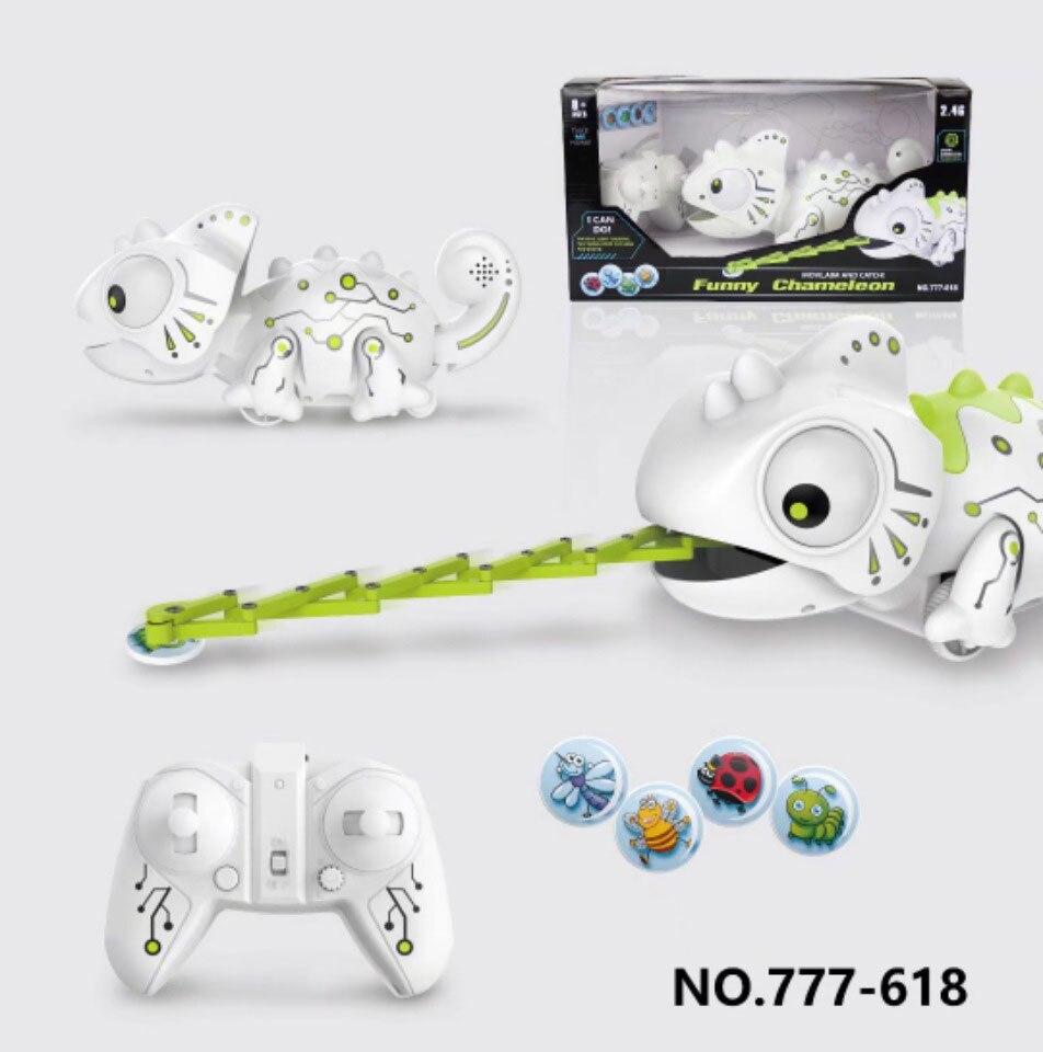 2 4chz rc robo dinossauro brinquedos camaleao animal de estimacao luz mutavel controle remoto eletronico modelo