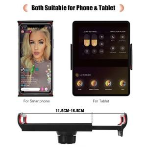 Image 2 - 26cm/10inch inch LED Ring Light 10 Levels 3200 5600K +Tripods Phone Tablet Holders for Live Makeup YouTube Video Lighting
