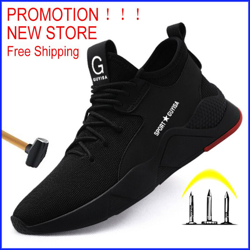 Free Shipping Work Safety Boot Men Steel Toe Safety Shoes Puncture-Proof Outdoor Sneakers Men Shoes Indestructible Shoes Ryder