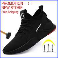 Livraison gratuite travail botte de sécurité hommes acier orteil chaussures de sécurité anti-crevaison en plein air baskets hommes chaussures indestructibles chaussures Ryder