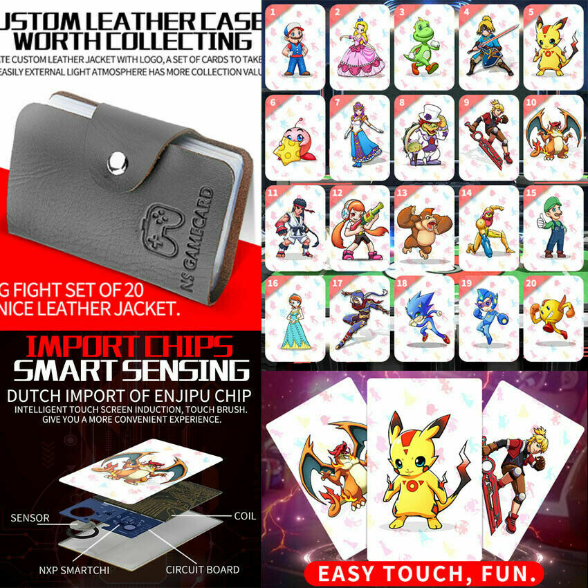 For Nintendo Switch Super Smash Bros Ultimate NFC For Amiibo Compatible Card Set Of 20