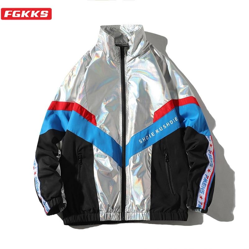 FGKKS New Men Fashion Jackets Trend Brand Men's Patchwork Wild Jacket Streetwear Male High Street Hip Hop Jacket Coats