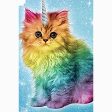 Full Square drill 5D DIY Diamond embroidery Unicorn Cat Painting Cross Stitch Rhinestone Mosaic decoration Gift