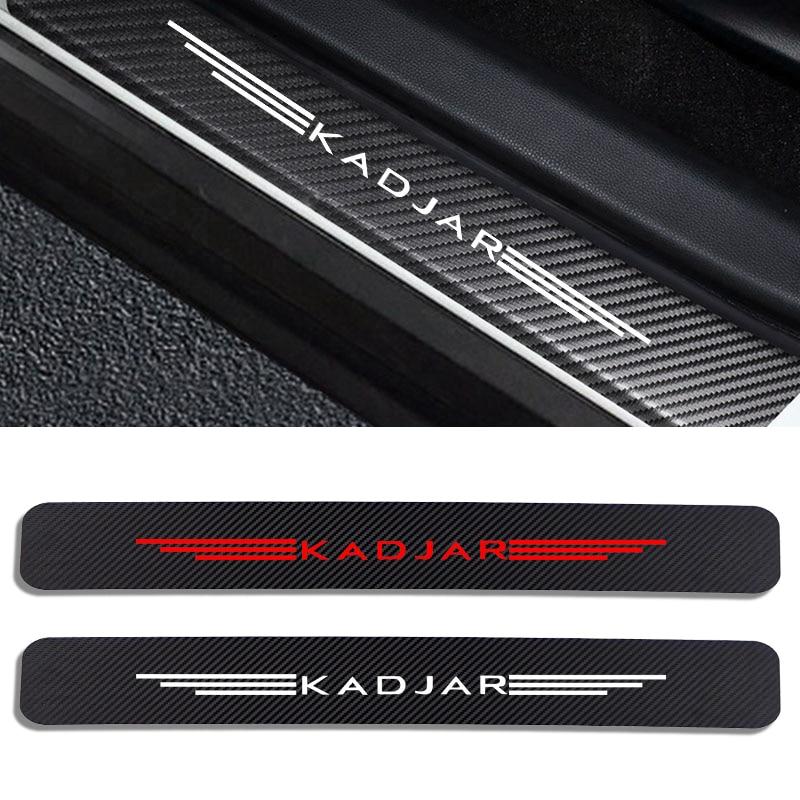Автомобильные наклейки на порог двери, Виниловый протектор для Renault KADJAR, Накладка на порог автомобиля, защитная накладка, аксессуары для дек...