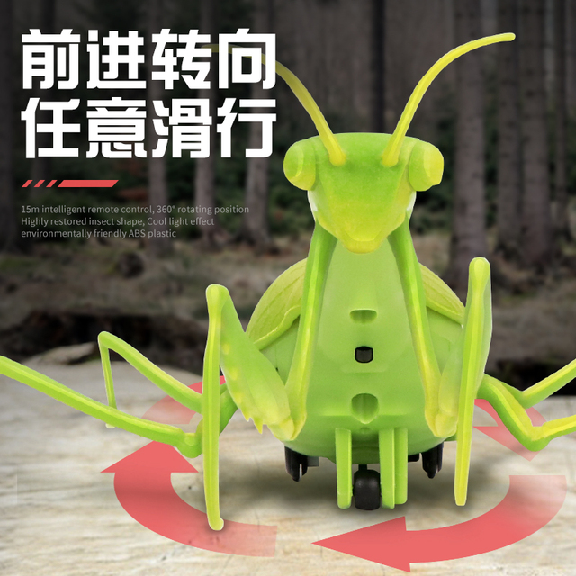 Infrared RC Remote Control Realistic Mini Mantis Insect Scary Trick Toy Simulation Animal Funny Prank Kids For Children Toy Gift 4