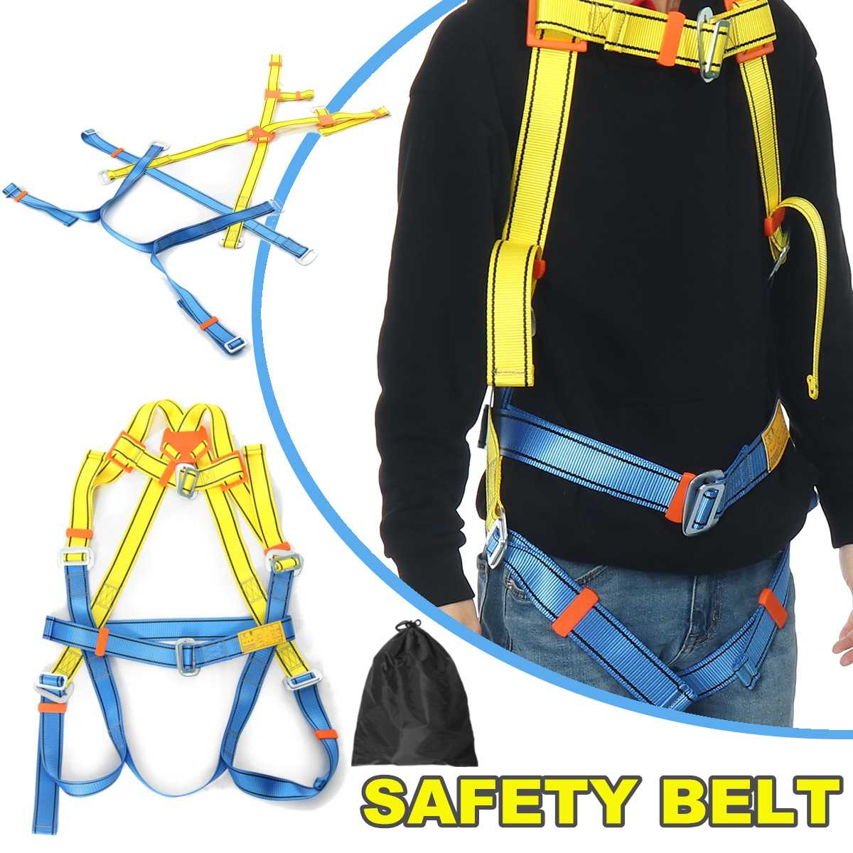 Working Fall Protective-Equipment Safety-Harness Roofing-Tool Industrial Construction Harness Full Body Type D-Ring Belt