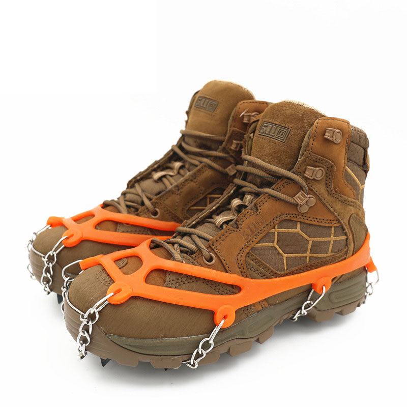 Cleats-Chain Crampon Ice-Snow-Grips Climbing-Shoes Shoe-Cover Hiking Winter 50pairs/Lot