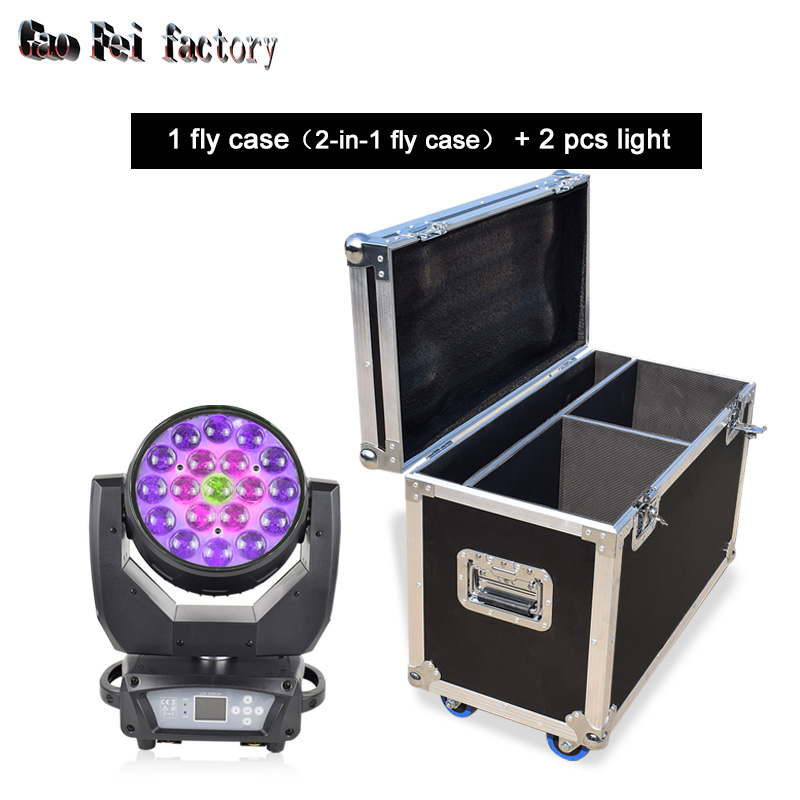 LED Zoom Wash Moving Heads Lights High Bright RGBW 4in1 Mixed Color 19x15w Moving Head Spot Light For DJ Bar Wedding Activity