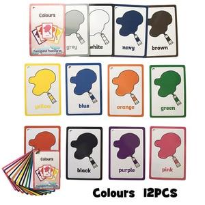 Обучающая карточка на английском языке для детей, карманная флеш-карта, Обучающие игрушки Монтессори, настольная игра для детей