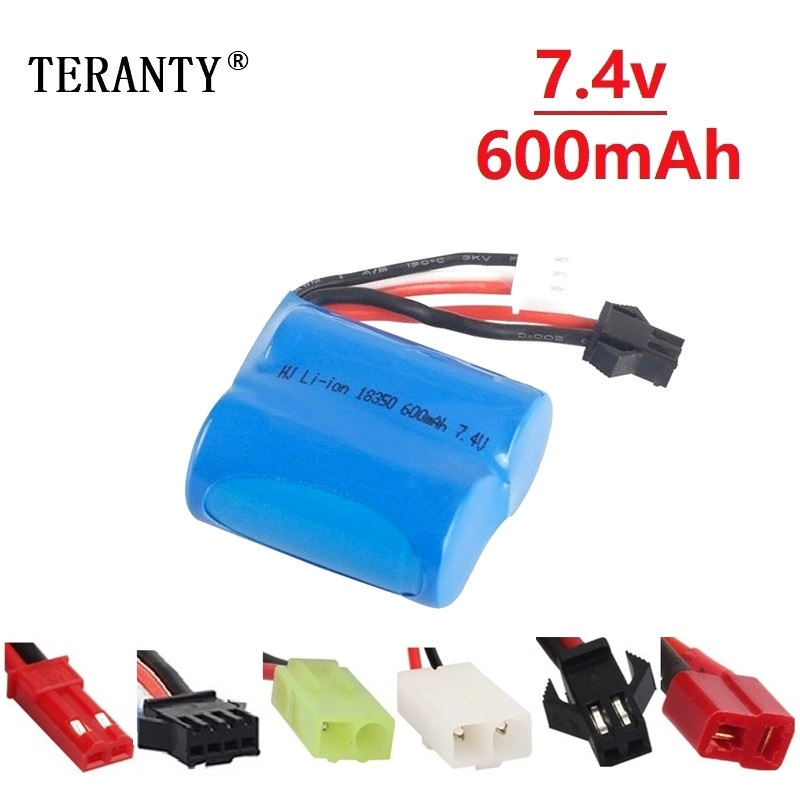 Original <font><b>7.4v</b></font> <font><b>600mAh</b></font> Li-ion <font><b>battery</b></font> for H100 H102 2S 18350 <font><b>7.4v</b></font> Li-ion <font><b>Battery</b></font> for JJRC S1 S2 S3 S4 S5 High Speed RC boat 1pcs image