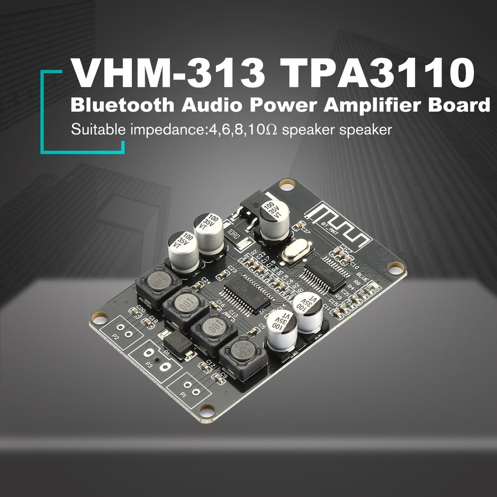 DC 2x15W TPA3110 Bluetooth Audio Power Amplifier Board For Bluetooth Speaker