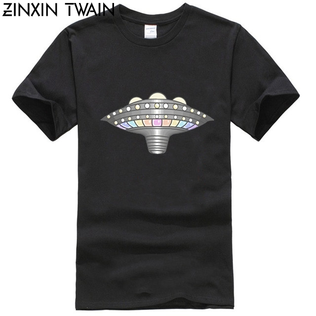 Customize Pleiadian Lightship Shirt Tshirt For Men Cool Round Collar Mens T Shirts Clothing Hiphop