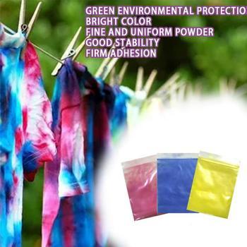 Handmade Tie barwnik pigmenty bezpieczne nietoksyczny zmienia kolor bezpłatny Pigment w proszku DIY instrukcja tkaniny Colorant narzędzie tkaniny dekorowanie tanie i dobre opinie CN (pochodzenie) JE256684 21*15*1cm Optimal material rest assured to use Exquisite and compact easy to carry The dyeing effect is obvious
