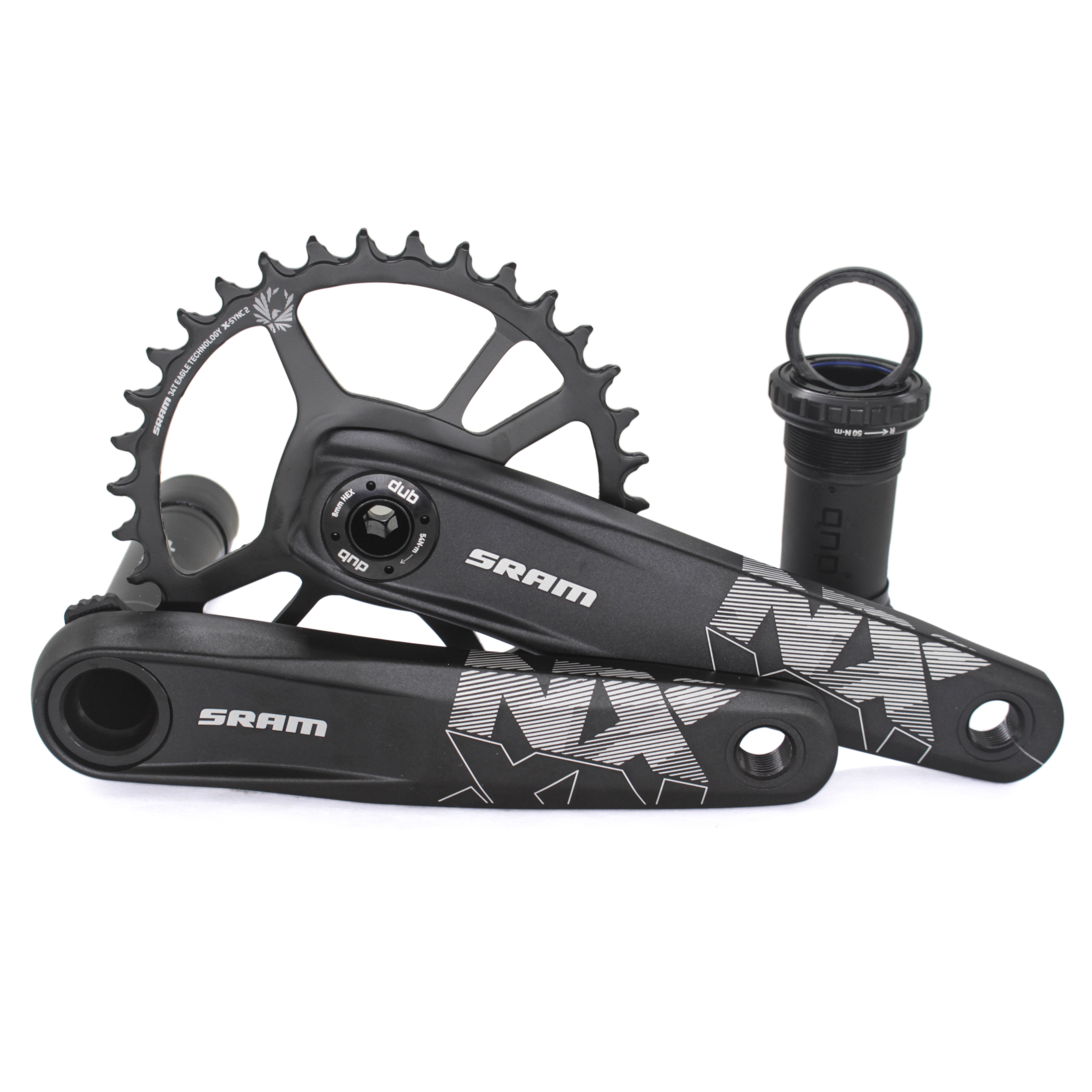 SRAM NX Eagle DUB 175mm Crankset with 32t X-Sync 2 Direct Mount Steel