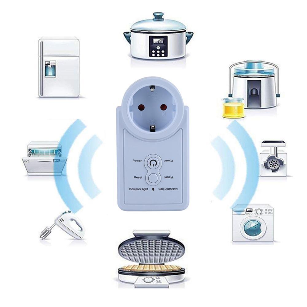 Купить с кэшбэком EU Plug GSM Smart Socket English Russian SMS Remote Control Timing Switch Temperature Controller with Sensor Power Outlet Plug