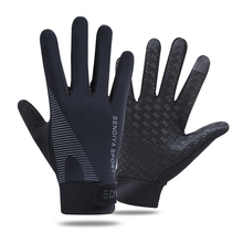 Sport-Gloves Outdoor-Sports Summer Mesh Palm Fabric Cycling Ice-Silk Anti-Slip Breathable