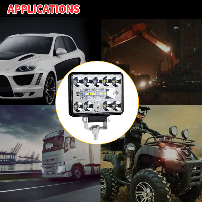 Купить с кэшбэком 3 Inch LED Work Lights 12V 24V 54W Universal LED Light Bar For Truck Offroad Boat Car Tractor SUV 6000K White Combo Flood Spot