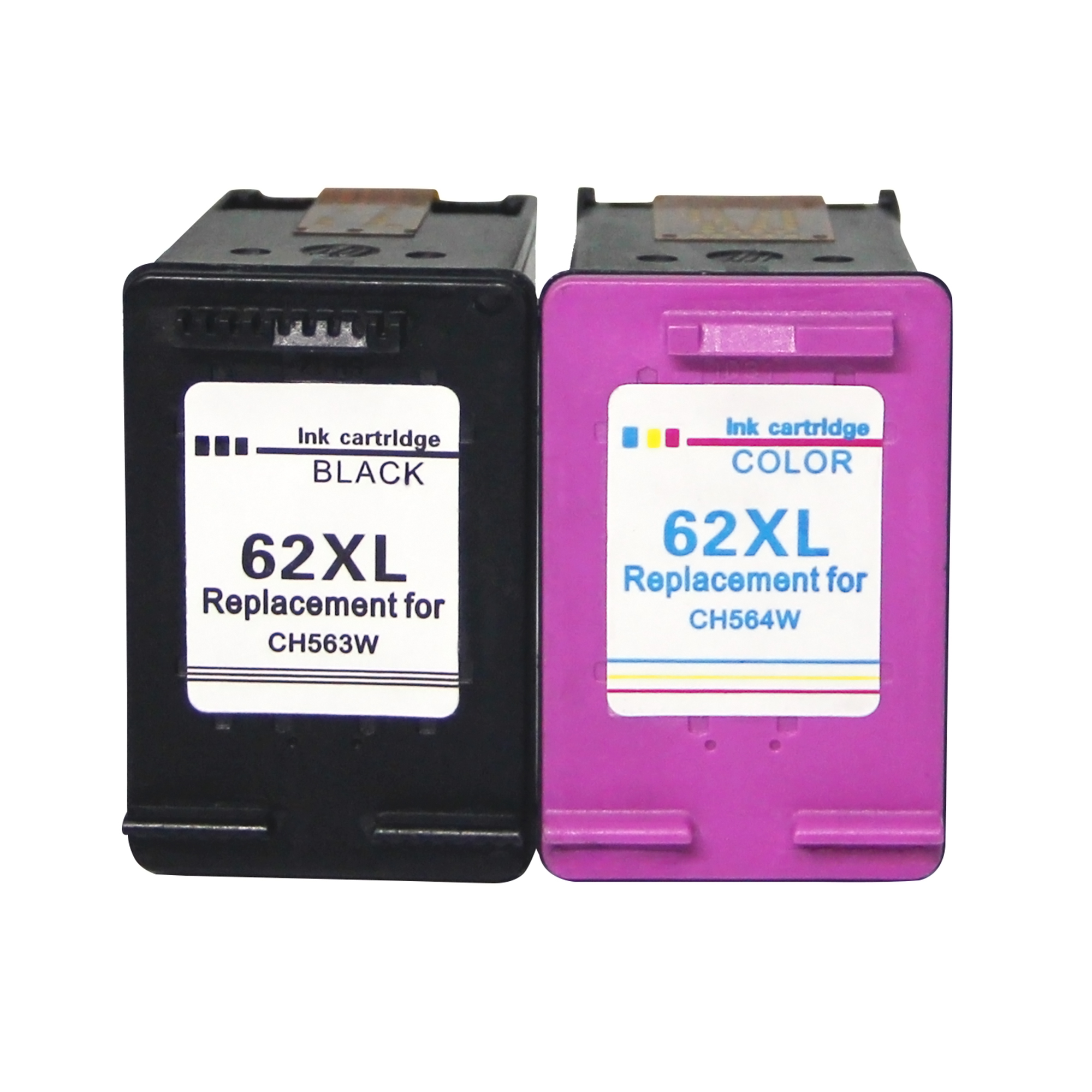 Replacement for HP 62 XL Ink Cartridges for HP Envy 5640 5540 5546 5544 5644 HP OfficeJet 5742 5744 200 250 MobileImpresoras