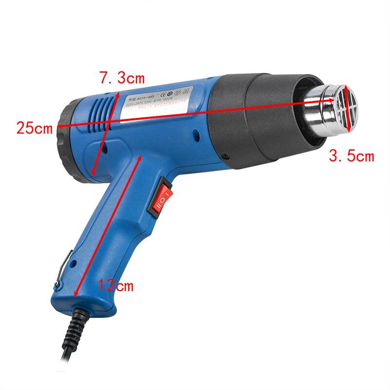 Tools : 220V 1600W Electronic Heat Gun Hot Air Gun Wine Cap Sealing Machine Shrink Cap Gun Air Blower Rework Repair